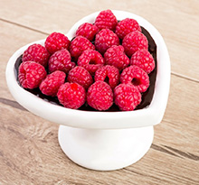 Raspberries are the food of love on Valentine's Day