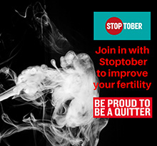 Join in with Stoptober to improve your fertility